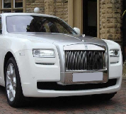 Rolls Royce Ghost - White Hire in Exeter