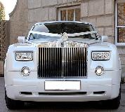 Rolls Royce Phantom - White hire  in Exeter